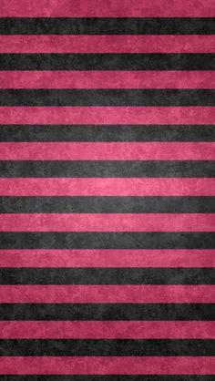 レトロなピンク&ブラックボーダーiPho