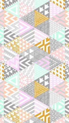 幾何学模様iPhone壁紙 Wallpa