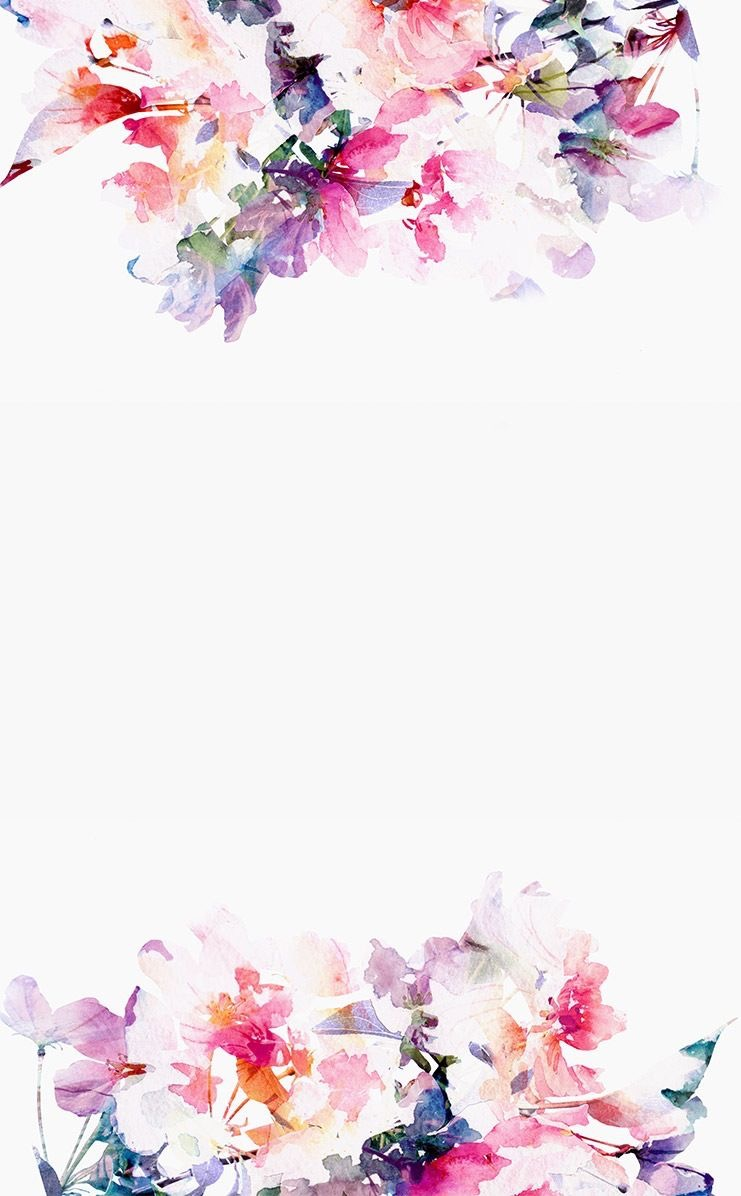 水彩画風かわいい花柄