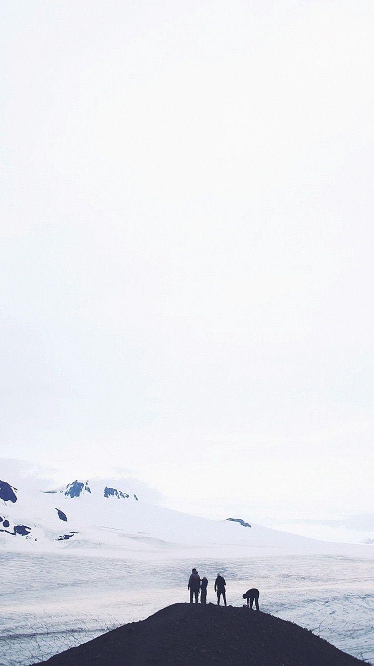 雪山のてっぺん