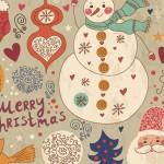 [クリスマス]サンタとスノーマン