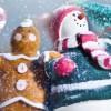[クリスマス]かわいいスノーマンのぬいぐるみ