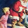 [クリスマス]レトロなコカ・コーラのポスター