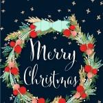 [クリスマス]クリスマスリース&Merry Christmas