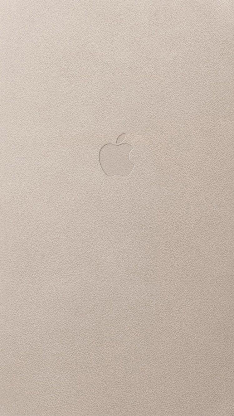 Appleロゴ&ホワイトレザー
