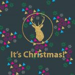 [クリスマス]ゴールドキラキラ&クリスマス