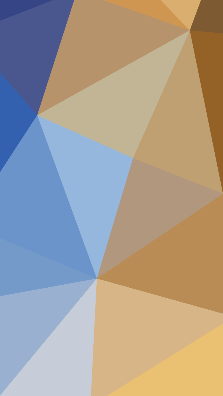 Brown And Blue Triangles