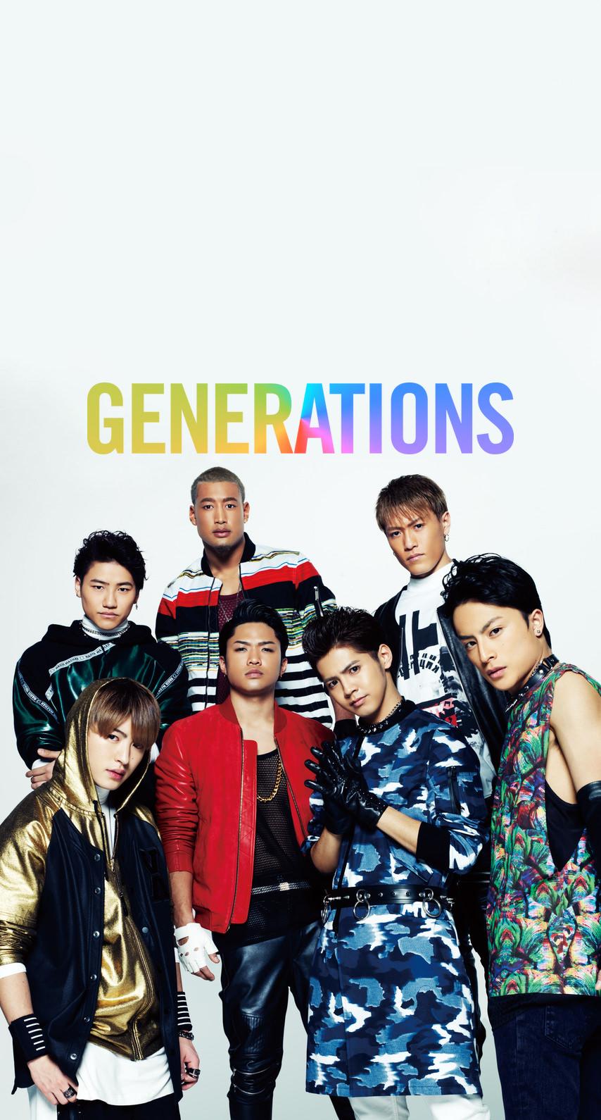 GENERATIONSメンバー&レインボーロゴ
