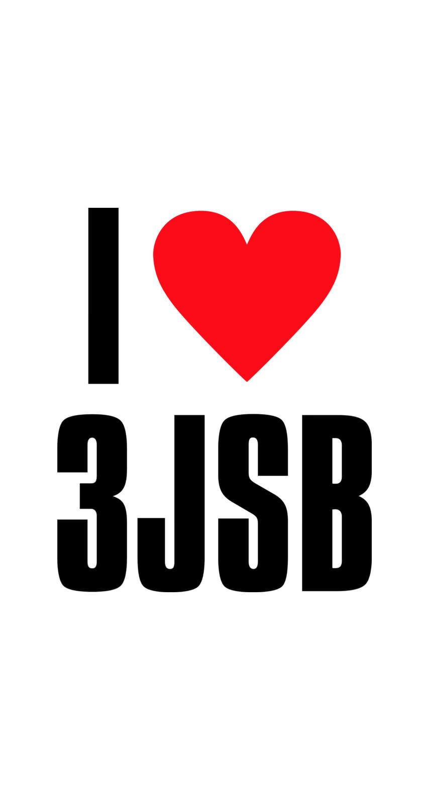 超カワ!!三代目JSBファンに贈る I Love 3JSBロゴホワイト
