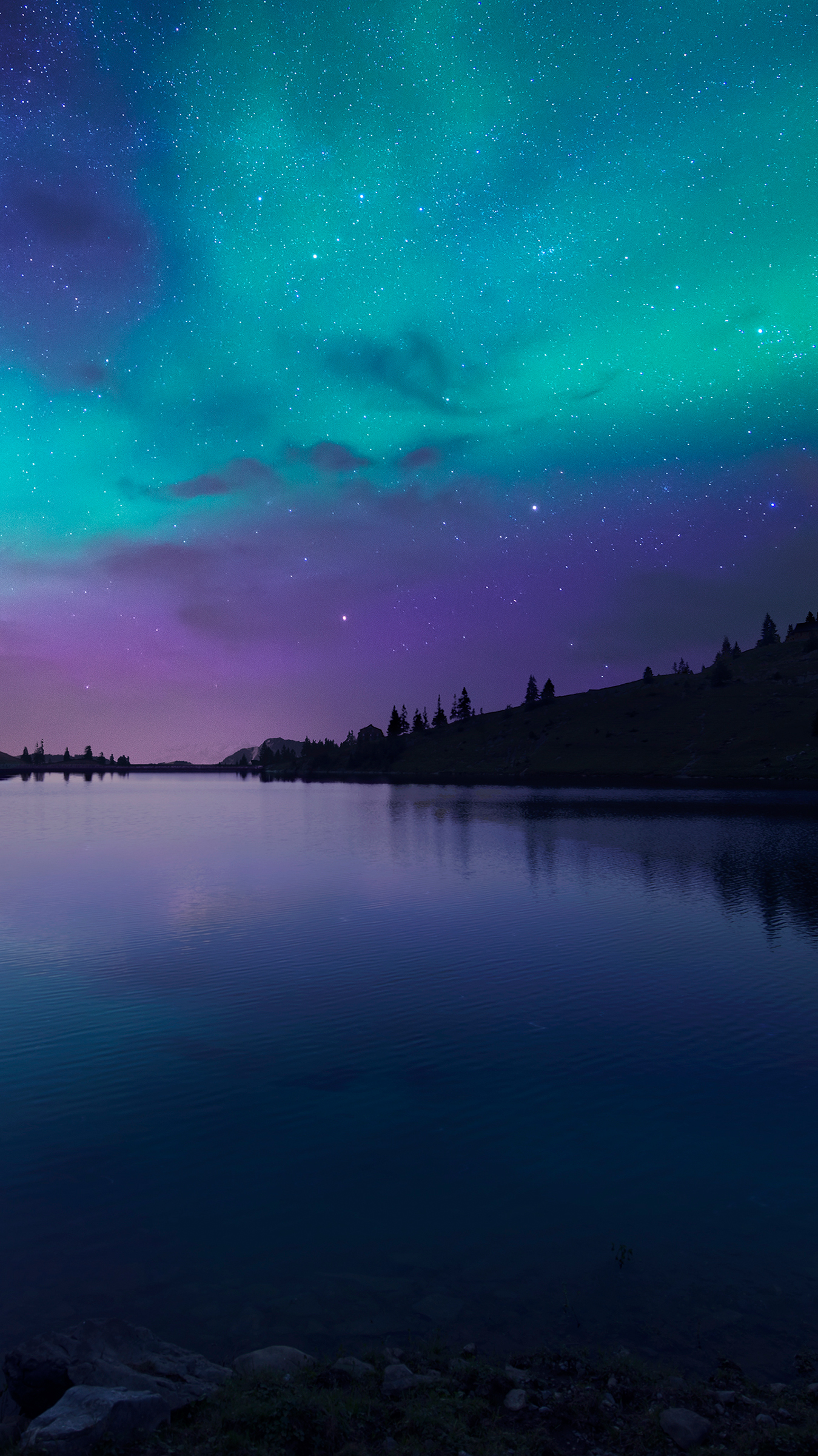 Nightfallatlakeaurora