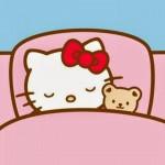 おやすみキティちゃん