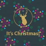 [クリスマス]おしゃれなキラキラロゴ