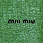 ミュウミュウ/ロゴ&クロコダイルレザー