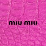 ミュウミュウ/ロゴ&ピンクレザー