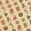[クリスマス]レトロ風モチーフパターン