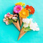かわいい花&アイスクリーム風