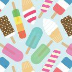 アイスクリームがいっぱい♪イラスト