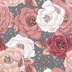 かわいい💓手描き花柄