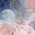 おしゃれなキラキラ✨️星と月