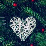 クリスマス風(?)🎄かわいいハート💓の無料高画質iPhone壁紙