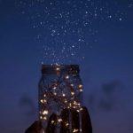 星⭐️を集めるグラス🥃無料高画質iPhone壁紙